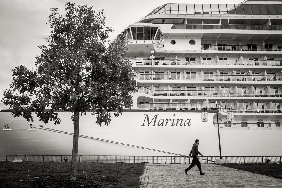 Le navire Marina fait escale à Bordeaux.